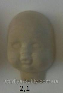 Пластиковая маска №2,1 (размер 100*65мм) – основа для лица текстильной куклы, рост 34 см. - Студия куклы в Днепре