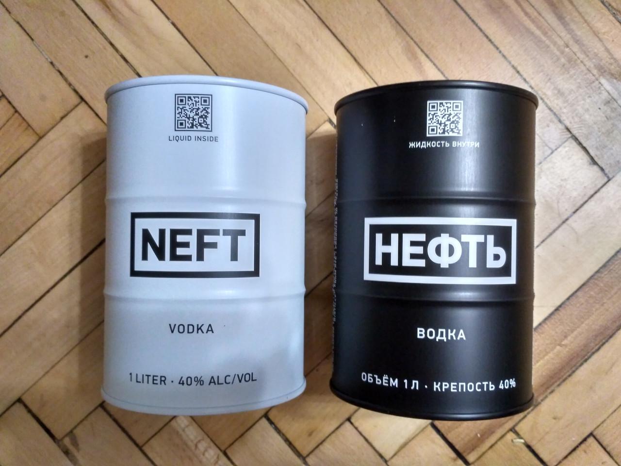 Водка Нефть/Neft Black & White Barrel 1л Австрия, фото 1