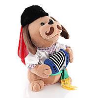 Поющая собака Ловелас в вышиванке