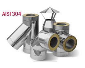 Дымоход в сауну AISI 304 (изоляция 50 мм)
