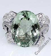 Кольцо серебро 925 натуральный аметист р.17,3