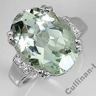 Кольцо серебро 925 позолота натуральный аметист р.17
