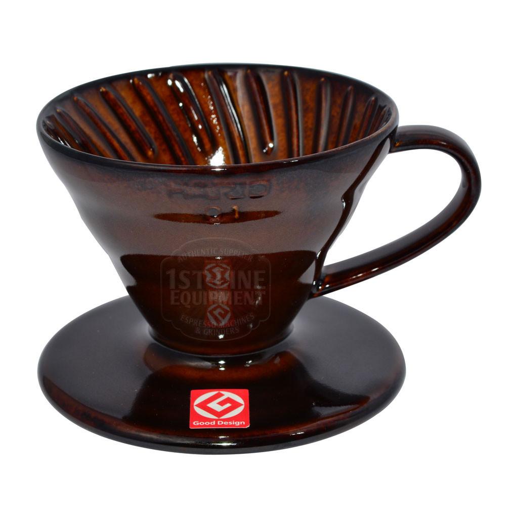 Пуровер Hario Dripper V60 01 Ceramic Chocolate Brown VDC-01CBR