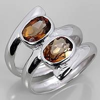 Кольцо серебро 925 натуральные топазы р.17,25