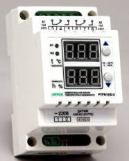 Регулятор влажности - терморегулятор двухканальный в корпусе на DIN-рейку РТРВ-10/D-2