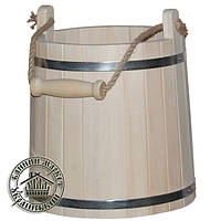 Ведро для бани узкое, липа (10 л)