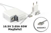 Блок питания для ноутбука Apple 16.5V 3.65A 60W MagSafe 2, A1184, A1330, A1344, A1435