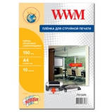 Плівка WWM прозора самоклеюча 150мкм , A4 , 10л (FS150IN), фото 2