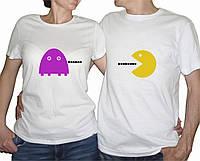 """Парные футболки """"Pacman"""""""
