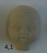 Пластиковая маска №4,1 (размер 75*58мм)  – основа для лица текстильной куклы, рост 23 см. - Студия куклы в Днепре