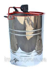 Медогонка с поворотом кассет 4-х рамочная, нержавеющая РКС (детали ротора, кассета сварная-нерж)