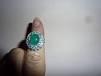 Серебряное кольцо с изумрудным агатом