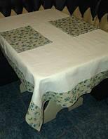Льняная скатерть 100x150 + 2 полотенца, для кухонного стола