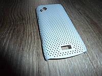Чехол накладка для телефона Samsung S8530 белый сетка