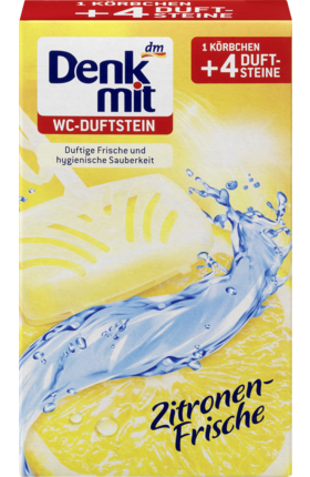 Подвесные таблетки для унитаза Denkmit WC Zitronen-Frische, 4шт. - 40 гр.