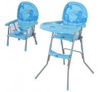 Стульчик GL 217 для кормления, съемный столик, голубой