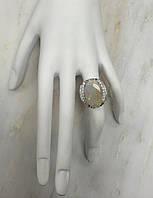 Роскошное золото  кольцо с опалом и бриллиантами
