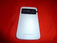 Чехол книжка / крышка для телефона Samsung I9200 I9205 / Galaxy Mega серая
