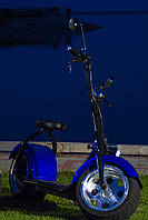 Электроскутер SEEV Citycoco 1500W (Черно-Синий), фото 1