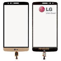 Touchscreen (сенсорный экран) для LG G3 Stylus D690 / D693, золотистый, оригинал