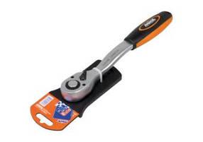 Ключ трещоточный с реверсом (72 зубца), двухкомп. рукоятка  1/4''