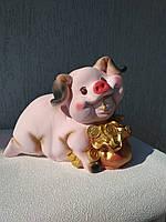 Копилка Свинка с мешком денег
