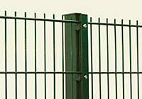 Столб в бетон 58х38х1.5мм оц+ПВХ 1.7м