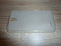Накладка чехол для телефона Lenovo A850 прозрачный силиконовый