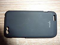 Чехол накладка для телефона HTC One V T320e Moshi черный
