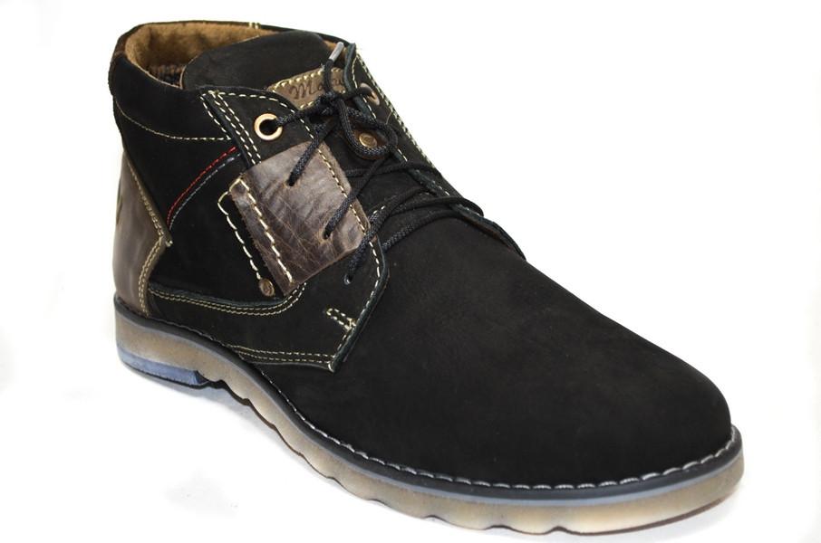 Мужские ботинки (арт.Томи чер. нуб.)