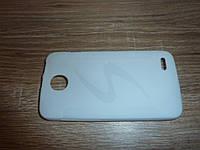 Чехол накладка для телефона Lenovo A820T белый силиконовый