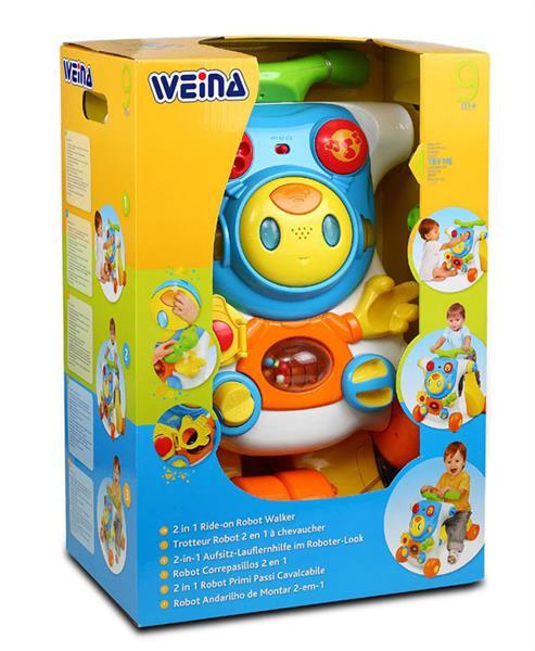 """Ходунки-каталка Weina развивающий центр 2 в 1 """"Верхом на роботе"""""""