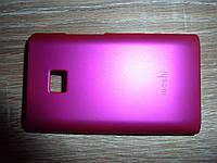 Чехол накладка для телефона LG E430 L3 розовый Moshi