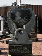 Памятники скульптуры на могилы. Лебедь с сердцем, фото 1
