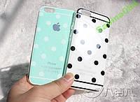 БЕЛЫЙ Стильный горошек чехол для iPhone 6/6s (4.7)