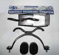 Кронштейн подвески глушителя Газель с хомутом, подушкой новый образец (полная компл.) (пр-во PSV)