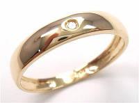 Золотое кольцо-унисекс с бриллиантом