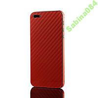 Красный карбон, стикер для iPhone 5/5s
