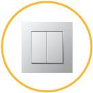 Клавишный выключатель - ступенчатое управление яркостью светильников LINEA