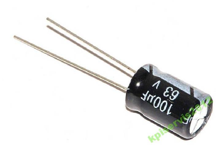 Конденсатор 100uF 63V 100мкФ 63В, фото 2