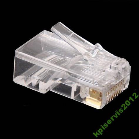 Конектор мережевий для вита пара 8р8с (RJ-45), фото 2