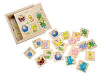 Мемо (животные) Деревянные развивающие игрушки