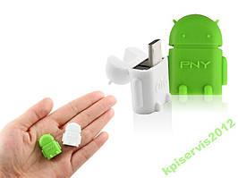 OTG USB Android адаптер переходник Зеленый