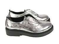 Туфли тренд 2016 года серебро, фото 1