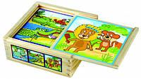 """Кубики """"Веселые животные"""" Деревянные развивающие игрушки"""