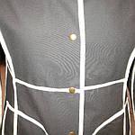 Плащ женский черный джинсовый  реглан, фото 4