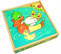 """Кубики """"Животные"""" (25 дет.) Деревянные развивающие игрушки"""