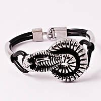 Мужской браслет с металлической змеей