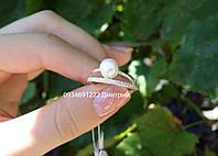 Серебряное кольцо с жемчугом Стиль