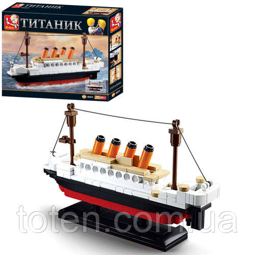 "Конструктор Sluban ""Титаник"" 194 дет,  M38-B0576"
